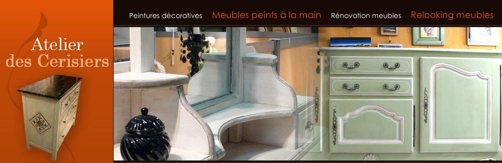 peinture sur meuble bois repeindre meuble décoration meuble bois ... - Peinture Decorative Meuble Bois