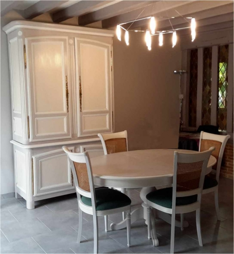Peinture sur meuble bois repeindre meuble décoration meuble bois ...